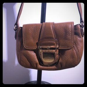 NWT Authentic Michael Kors tan leather Crossbody